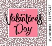 happy valentine's day. stylized ... | Shutterstock .eps vector #556997287