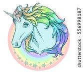 rainbow unicorn.  | Shutterstock .eps vector #556998187