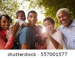 multi generation black family... | Shutterstock . vector #557001577