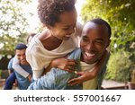 two adult black couples... | Shutterstock . vector #557001667