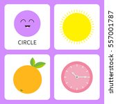 learning circle form shape.... | Shutterstock .eps vector #557001787