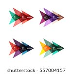 vector colorful arrow option... | Shutterstock .eps vector #557004157
