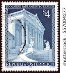 austria   circa 1983  a stamp... | Shutterstock . vector #557004277