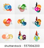 collection of christmas sale...   Shutterstock .eps vector #557006203