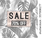 sale banner  poster with palm... | Shutterstock .eps vector #557008177