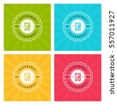 sale banners or labels vector...   Shutterstock .eps vector #557011927