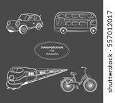 hand draw sketch transportation ... | Shutterstock .eps vector #557012017