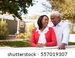 senior black couple standing...   Shutterstock . vector #557019307