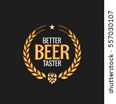 beer label reward logo design... | Shutterstock .eps vector #557030107