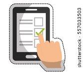 blank checklist on cellphone...