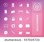business icon set clean vector | Shutterstock .eps vector #557035723