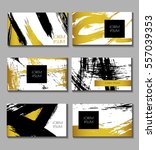 business card set. templates... | Shutterstock .eps vector #557039353