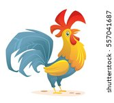 rooster cartoon character for... | Shutterstock .eps vector #557041687