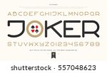 set of stylish alphabet letters ... | Shutterstock .eps vector #557048623