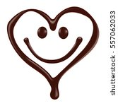 chocolate heart shape smiley... | Shutterstock .eps vector #557062033