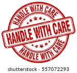 handle with care. stamp. red... | Shutterstock .eps vector #557072293