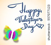 valentines day greeting card... | Shutterstock .eps vector #557077123