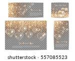 set of romantic banners of... | Shutterstock .eps vector #557085523