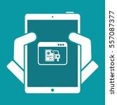 automotive online document  ... | Shutterstock .eps vector #557087377