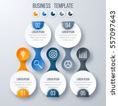 infographics template five... | Shutterstock .eps vector #557097643