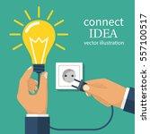 connect idea. business team... | Shutterstock .eps vector #557100517