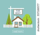 home for rent icon. real estate ... | Shutterstock .eps vector #557100577