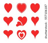 abstract hearts collection... | Shutterstock .eps vector #557106187