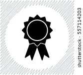 badge with ribbons vector icon  ... | Shutterstock .eps vector #557114203