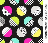 cute 80's style seamless... | Shutterstock .eps vector #557114623