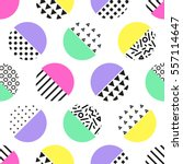cute 80's style seamless... | Shutterstock .eps vector #557114647