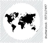 world map vector icon   black ... | Shutterstock .eps vector #557117497