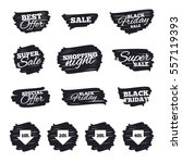 ink brush sale stripes and... | Shutterstock .eps vector #557119393