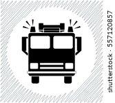 fire engine vector icon   black ... | Shutterstock .eps vector #557120857