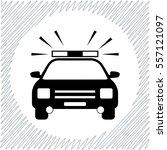 police car vector icon   black  ... | Shutterstock .eps vector #557121097