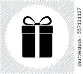 gift box vector icon   black ... | Shutterstock .eps vector #557121127