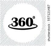 angle 360 degrees sign vector... | Shutterstock .eps vector #557121487