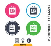 50  sale bag tag sign icon....   Shutterstock .eps vector #557122063