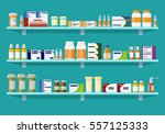 modern interior pharmacy or... | Shutterstock .eps vector #557125333