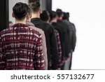 catwalk event  menswear fashion ... | Shutterstock . vector #557132677