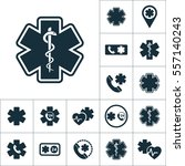 life star snake icon  medical... | Shutterstock .eps vector #557140243