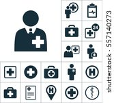 doctor  health worker icon ... | Shutterstock .eps vector #557140273