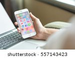 bangkok  thailand   january 8th ... | Shutterstock . vector #557143423