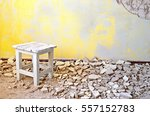 Old Vintage Wooden Chair In An...