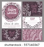 vector wedding collection.... | Shutterstock .eps vector #557160367