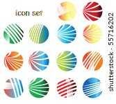 icon set  web buttons | Shutterstock .eps vector #55716202