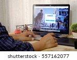 chiang mai  thailand jan 16... | Shutterstock . vector #557162077