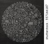 chalkboard vector hand drawn...   Shutterstock .eps vector #557166187
