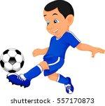 cute boy soccer player   Shutterstock .eps vector #557170873