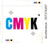 vector vintage poster with cmyk....