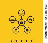 infographic template. family... | Shutterstock .eps vector #557181553